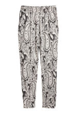Jersey trousers - Dark grey/Paisley - Ladies | H&M CN 2