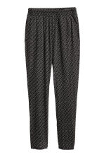 Jersey trousers - Black/Patterned - Ladies | H&M CN 2