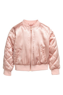 Bomber in satin