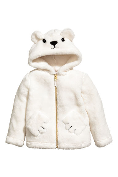 Pile Jacket with Hood - Natural white - Kids | H&M CA 1