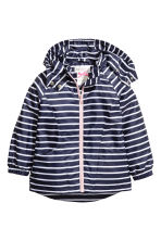 Fleece-lined windproof jacket - Dark blue/Striped - Kids | H&M 2