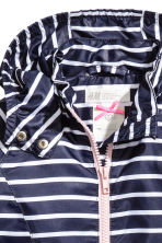 絨毛內裡防風外套 - Dark blue/Striped - Kids | H&M 5