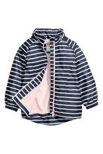 Fleece-lined windproof jacket - Dark blue/Striped - Kids | H&M 3