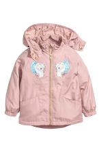 Fleece-lined windproof jacket - Old rose - Kids | H&M CN 2