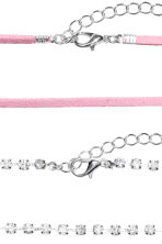 3-pack chokers - Light pink/Silver - Ladies | H&M CN 2