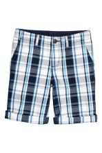 卡其短褲 - Dark blue/Checked - Kids | H&M 2