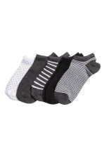 5雙入運動襪 - Dark grey/Striped - Ladies | H&M 1