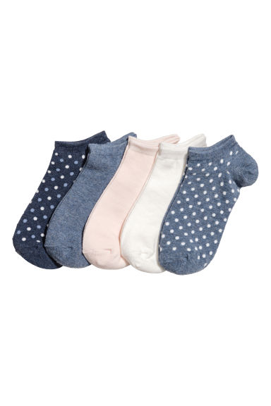 5-pack trainer socks - Blue/Spotted - Ladies | H&M CN 1