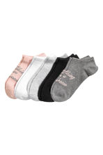 5-pack trainer socks - Grey/Text - Ladies | H&M CN 1