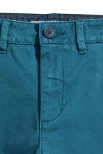 Slim fit Chinos - Teal blue - Kids | H&M CA 3
