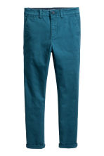 Slim fit Chinos - Teal blue - Kids | H&M CA 2