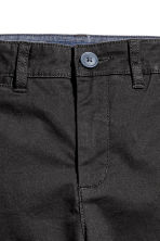 Calças chino Slim fit - Preto -  | H&M PT 3