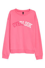 Sweatshirt with Printed Design - Pink - Ladies | H&M CA 2