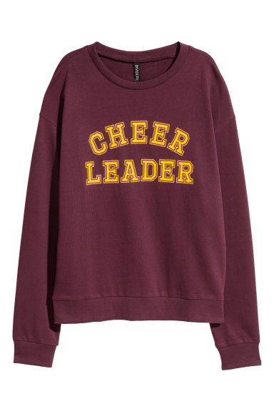 Sweat-shirt avec impression - Bordeaux - FEMME | H&M BE