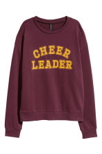 Printed sweatshirt - Burgundy - Ladies | H&M CN 2