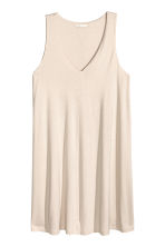 V-neck jersey dress - Light beige - Ladies | H&M 2