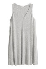 V-neck jersey dress - Grey marl - Ladies | H&M CN 2