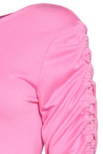 MAMA Top with gathered sleeves - Pink - Ladies | H&M CN 3