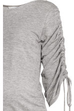 MAMA Top with gathered sleeves - Light grey marl - Ladies | H&M 3
