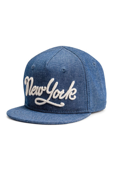 Cotton cap with a motif - Blue/New York - Kids | H&M 1