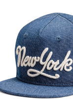 Cotton cap with a motif - Blue/New York - Kids | H&M 3