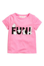 Printed jersey top - Pink - Kids | H&M 2