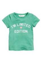 T-shirt in jersey con stampa - Verde - BAMBINO | H&M IT 2
