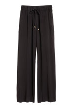 Wide pull-on trousers - Black - Ladies | H&M CN 2