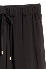 Wide pull-on trousers - Black - Ladies | H&M CN 3