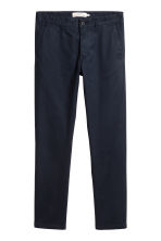 Cotton chinos Skinny fit - Dark blue - Men | H&M CN 2