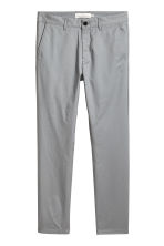 Cotton chinos Skinny fit - Grey green - Men | H&M CN 2