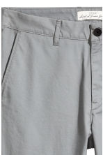 Cotton chinos Skinny fit - Grey green - Men | H&M CN 4