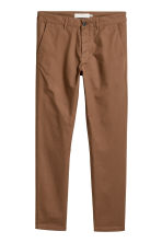 Cotton chinos Skinny fit - Dark camel - Men | H&M CN 2
