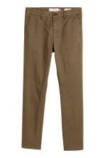 Cotton chinos Skinny fit - Khaki brown - Men | H&M 1