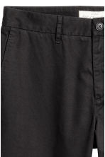 Cotton chinos - Black - Men | H&M CA 4