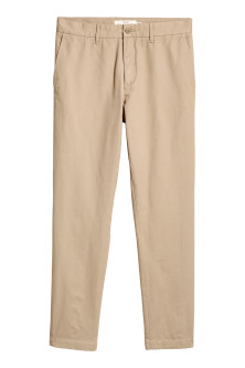 Chinos i bomuld Slim fit