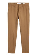 Katoenen chino - Slim fit - Bruin - HEREN | H&M BE 2