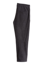 Wide linen-blend trousers - Black - Men | H&M 3