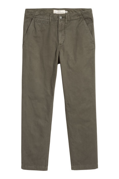 Chinos in twill di cotone - Verde kaki -  | H&M IT