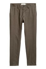 Linen-blend trousers - Khaki - Men | H&M 2