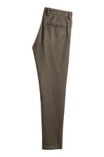 Linen-blend trousers - Khaki - Men | H&M 3