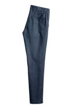 Linen-blend trousers - Dark blue - Men | H&M 3