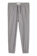 Cotton flannel joggers - Grey marl - Men | H&M 1
