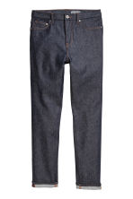 Relaxed Skinny Jeans - Dark denim blue/Raw - Men | H&M CN 2