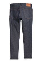 Relaxed Skinny Jeans - Dark denim blue/Raw - Men | H&M CN 3