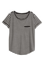 Striped jersey top - Dark grey/Grey marl - Ladies | H&M CA 2