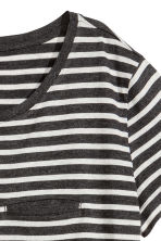 Striped jersey top - Dark grey/Grey marl - Ladies | H&M CN 3