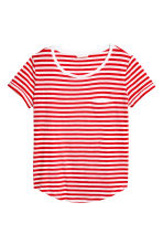 Striped jersey top - Red/White - Ladies | H&M 2