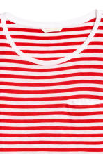 Striped jersey top - Red/White - Ladies | H&M 3