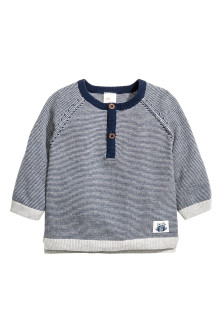 Fine-knit cotton top